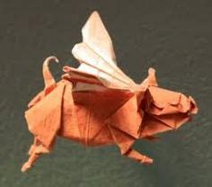 Origami Flying Pig - when pigs fly on flying pig pigs and pink