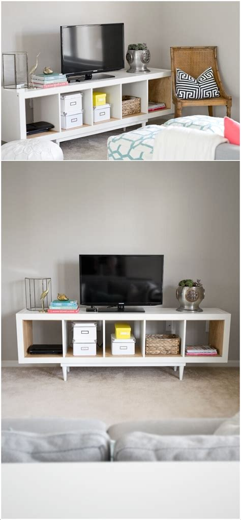 remodelaholic 15 clever shelving hacks 15 ways to hack ikea lack wall shelf