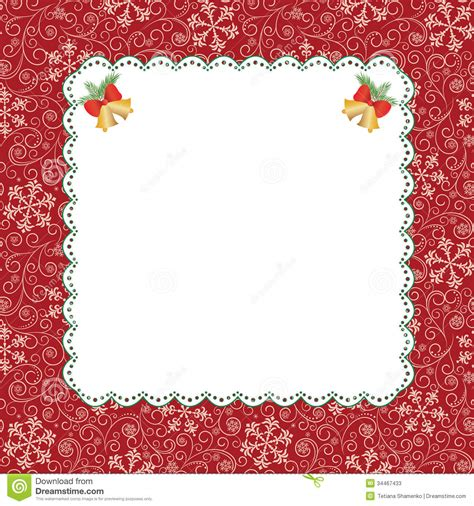 card photo frame template template frame design for greeting card stock vector