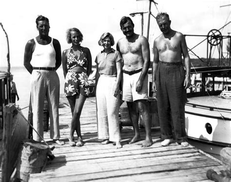 Hemingway House Key West The Von Blixens And The Hemingways On A Dock Bimini