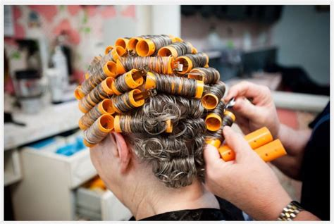his hair in rollers 166 best images about curlers on pinterest mothers