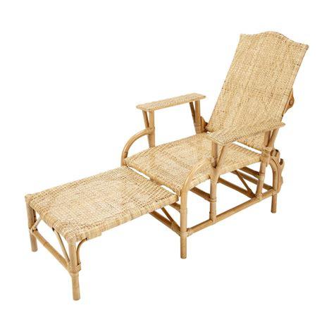 chaise longue en rotin l 149 cm s 233 ville maisons du monde