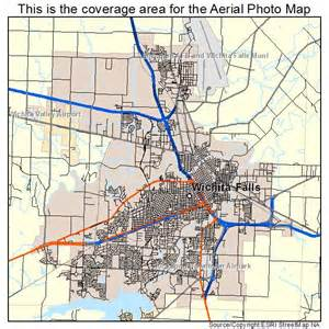 aerial photography map of wichita falls tx