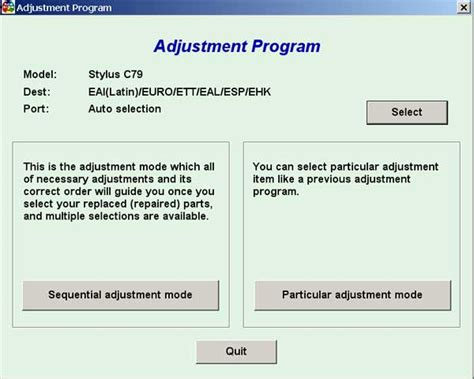 Adjustment Resetter | download adjustment or software resetter epson c79