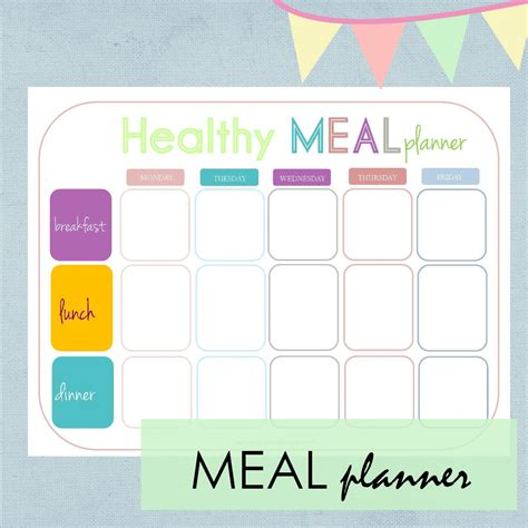 printable meal planner for toddlers your free printable calendar and home planners for summer