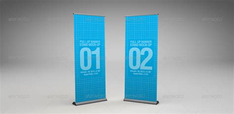 pull  banner stand mock   abelo graphicriver