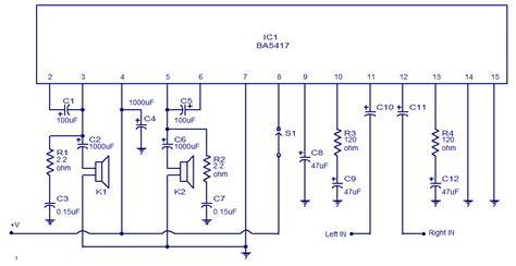 Loud Speaker Polytron rangkaian power lifier ic ba5417 oktora service