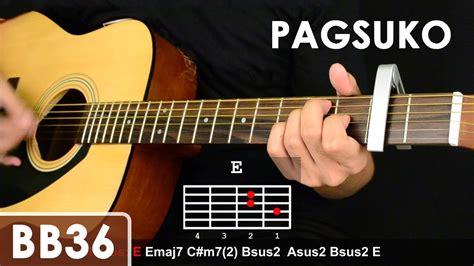 guitar tutorial videos pagsuko jireh lim guitar tutorial chords sequence 1st