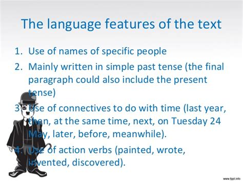 language features in a biography writing a biography