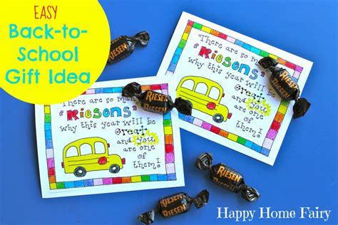 back to school gift with easy back to school gift idea free printable happy