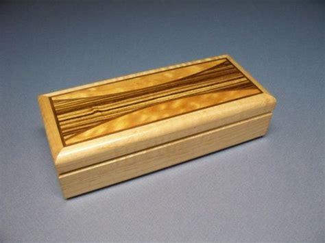 Keepsake Box Personal Box Zebrawood Cherry Inlay Box Cherry Wood Desk Accessories