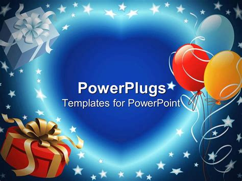 templates for powerpoint birthday powerpoint template balloon decoration and gift box with