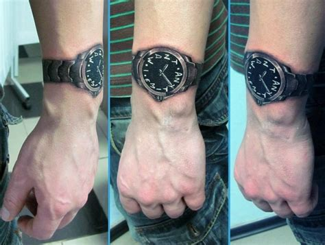 wrist watch tattoo on wrist ideas