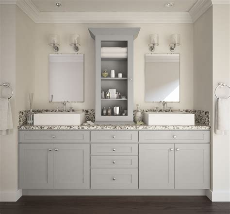 assembled bathroom cabinets society shaker dove gray pre assembled bathroom vanities