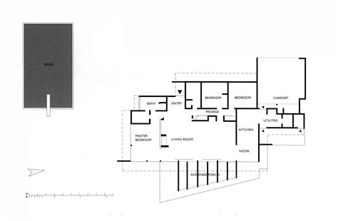 neutra house plans floor plan milton goldman house encino ca richard