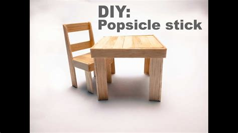table and stick diy how to a popsicle stick chair and table