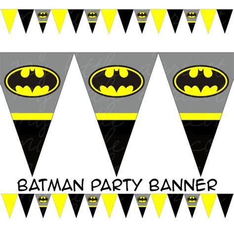 Banner Betmen Bunting Flag Batman batman printable pennant bunting instant by