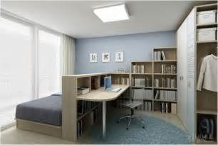 Bedroom Office bedroom amp home office combo divided with bookcase home