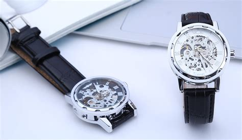 Winner W001 Hollow Mechanical With Leather Band Scale winner w001 hollow mechanical wa end 6 16 2020 4 32 pm