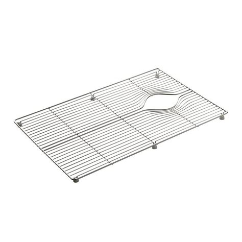 kohler indio 24 375 in x 15 in stainless steel sink rack