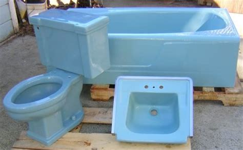 Blue Tub Bathroom by Mid Century Blue Bathroom Sink Toilet And Tub Real