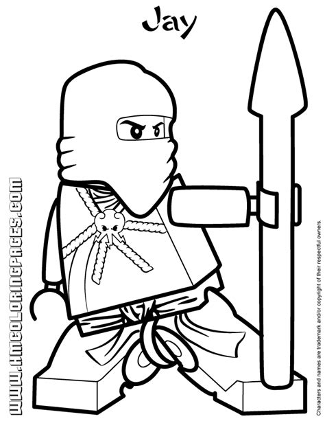 Ninjago Coloring Pages Of Jay | lego ninjago jay coloring page h m coloring pages