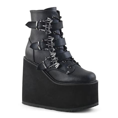 demonia swing boots demonia swing 103 bat buckle gothic platform boots