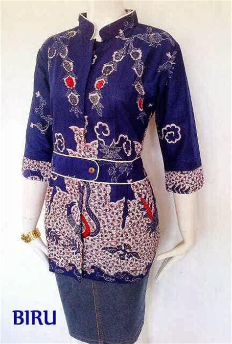model baju batik atasan wanita kantor bintangbatik net