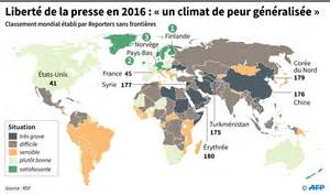 la libert 233 de la presse s est d 233 grad 233 e en 2015 selon rsf