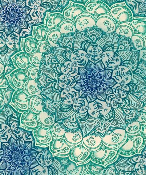 doodle print pattern emerald doodle art print mandalas flower and zentangle