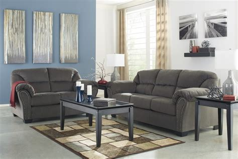 charcoal sofa living room kinlock charcoal sofa loveseat price busters