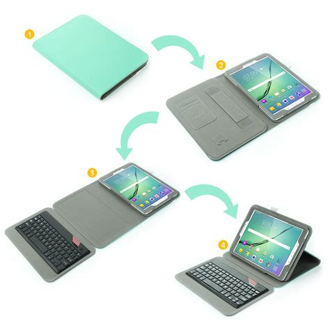 9skin Skin Samsung Tab S3 9 7 Black Carbon Vinyl slim bluetooth keyboard stand cover for samsung