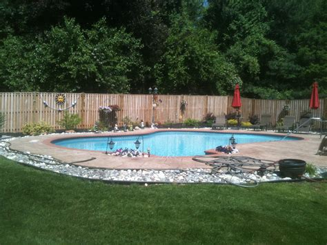 rock borders around pool google search outdoor