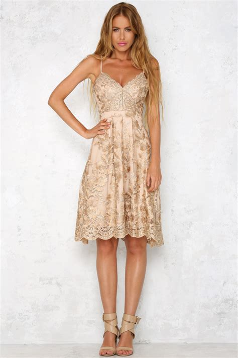 Spaghetti A Line Lace Dress embroidery lace spaghetti backless a line dress