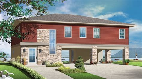 narrow house plans with front garage beach house plans beach house plans with garage under beach house plans