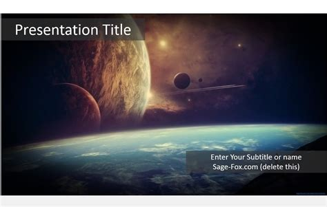templates powerpoint space free fantasy space powerpoint template 5986 sagefox