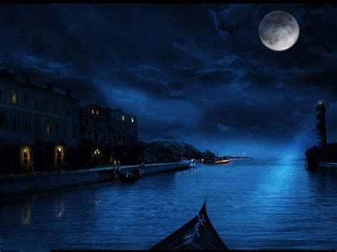 imagenes de paisajes lunas midnight blue wallpapers wallpaper cave