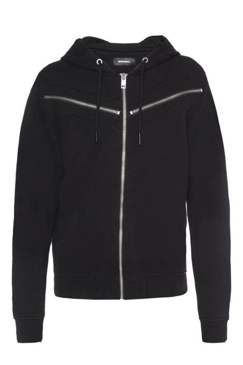 decorative zippers sweatshirt with decorative zippers diesel vitkac shop online