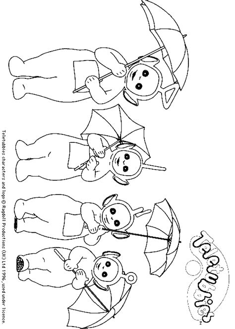 teletubbies coloring pages