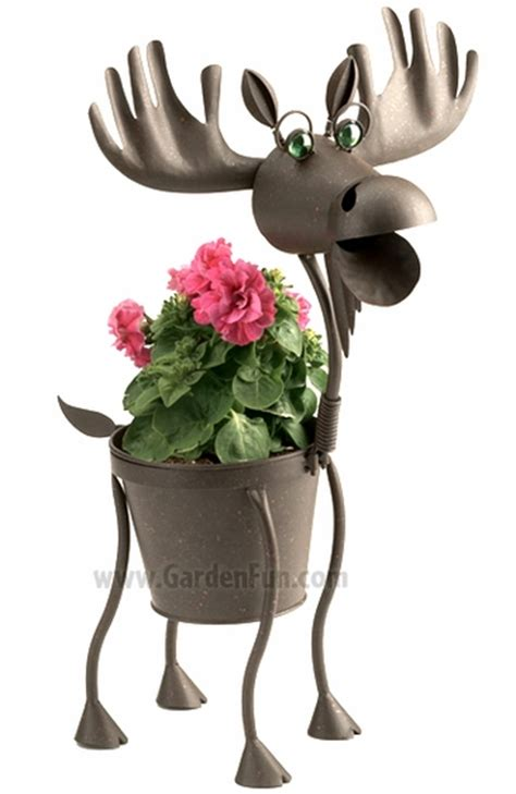 Moose Planter by Hal The Metal Moose Planter Only 39 99 At Garden