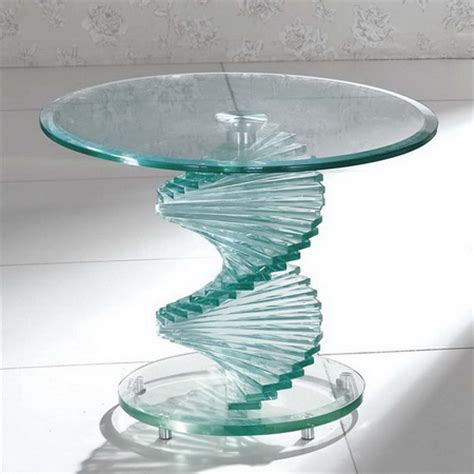 Swirl Glass Side Table Swirl Glass Coffee Table