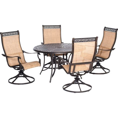 Hanover Outdoor Manor 5 Pc Outdoor Dining Set With Four 5 Pc Patio Dining Set