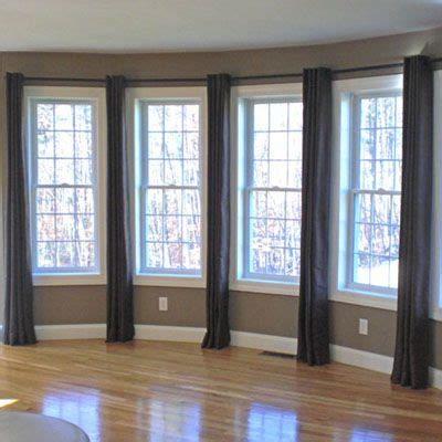 curtain rod close to wall best 25 3 window curtains ideas on pinterest bay window