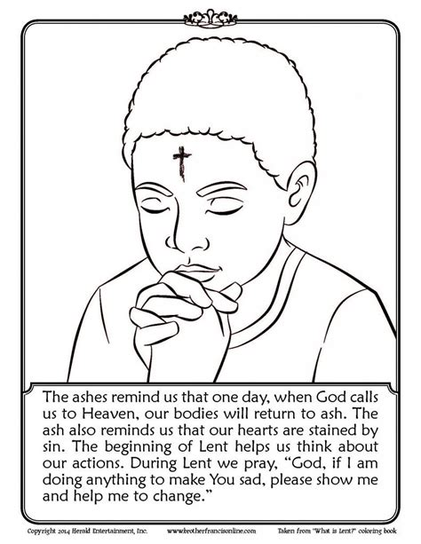 Ash Wednesday Coloring Page coloring pages ash wednesday coloring pages to and print for free lent coloring pages