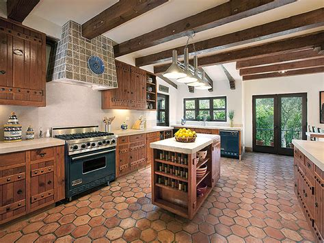 Kitchen Stone Backsplash Ideas by Beautiful Spanish Hacienda In Santa Barbara Idesignarch