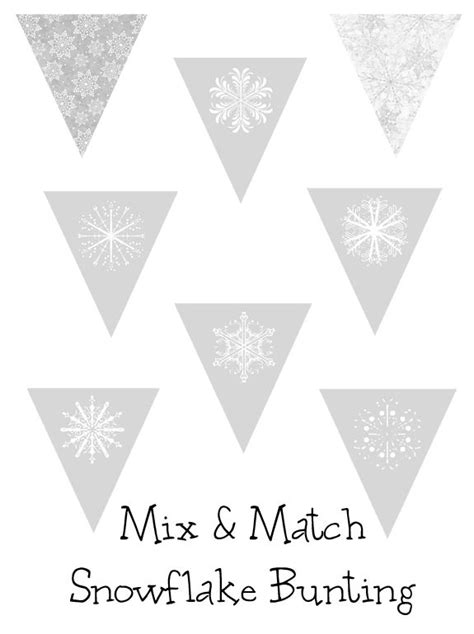 printable snowflake banner free printable winter snowflake bunting from over the big