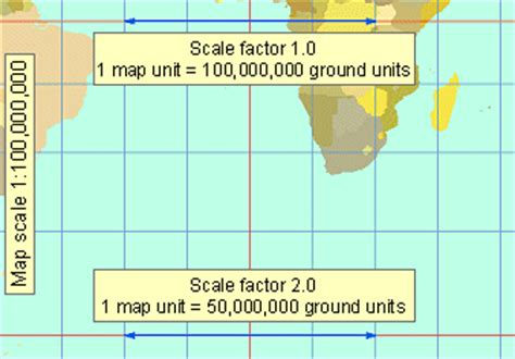 map scale definition projection parameters