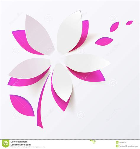 flower card template free pink paper flower vector greeting card template stock