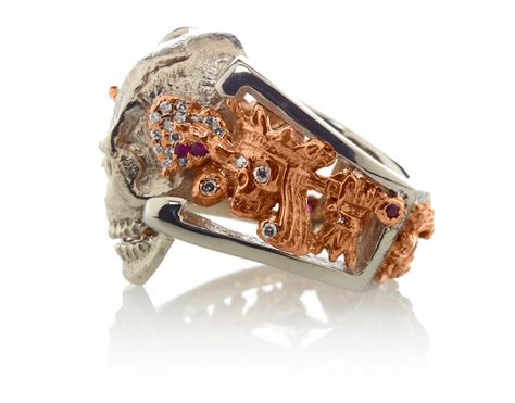 Skull Ring King quot skull king quot custom ring rg1050 steve soffa