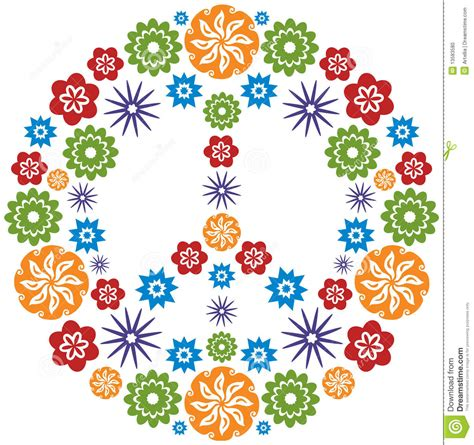 simboli figli dei fiori s 237 mbolo de la paz y hecho de flores multicolor